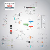 Mega Collection of Timeline Infographics objects Royalty Free Stock Photography