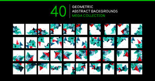 Mega collection of triangle shape backgrounds Royalty Free Stock Image