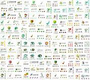 Mega collection of universal logos, business Stock Image