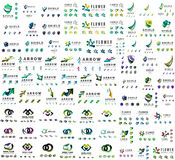 Mega collection of universal logos, business Stock Photo