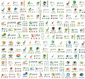 Mega collection of universal logos, business Royalty Free Stock Image