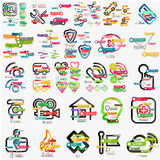 Mega collection of various web infographics Stock Image