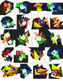 Mega collection of vector abstract geometric Stock Photo