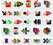 Mega collection of vector abstract geometric Stock Photography
