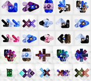 Mega collection of vector abstract geometric Royalty Free Stock Photography
