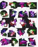 Mega collection of vector abstract geometric Stock Photos