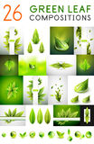 Mega collection of vector green summer concepts Stock Image