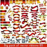 Mega collection of vector ribbons and banners for any holiday or Royalty Free Stock Images