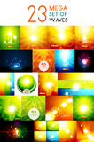 Mega collection of warm shiny backgrounds Royalty Free Stock Photography
