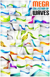Mega collection of wave abstract backgrounds Royalty Free Stock Photography