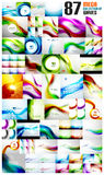Mega collection of wave abstract backgrounds stock illustration