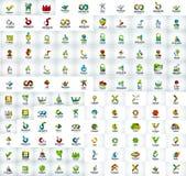 Mega collection of web logo icons Royalty Free Stock Photo