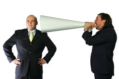 Mega communication yelling stock images