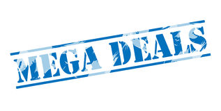 Mega deals blue stamp Stock Photo