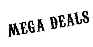 Mega Deals rubber stamp Royalty Free Stock Images