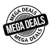 Mega Deals rubber stamp Stock Photo