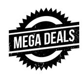 Mega Deals rubber stamp Royalty Free Stock Photo