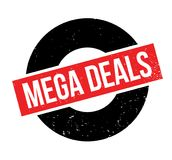 Mega Deals rubber stamp Royalty Free Stock Image