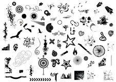 Mega design elements. Illustration drawing of design elements Royalty Free Stock Photo