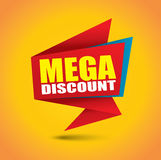 Mega discount bubble banner Stock Photos