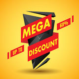 Mega discount label Stock Images