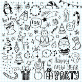 Mega Doodle Design Elements Vector Set Stock Image