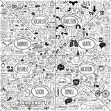 Mega doodle icons set royalty free illustration