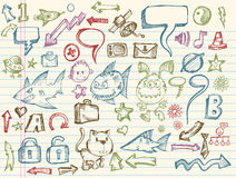 Mega Doodle Sketch Vector Collection royalty free illustration