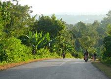 MEGA, ETHIOPIA - NOVEMBER 25, 2008: Equatorial jungle. Road clos Royalty Free Stock Photography