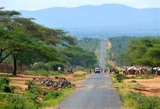 MEGA, ETIÓPIA - 26 DE NOVEMBRO DE 2008: Vida na vila. O CEN Imagem de Stock Royalty Free