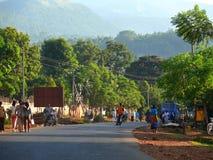 MEGA, ETIÓPIA - 25 DE NOVEMBRO DE 2008: Vida na vila. O CEN Fotos de Stock Royalty Free