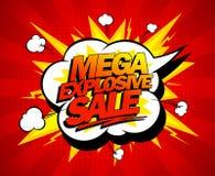 Mega explosiv försäljningsdesign Arkivfoto