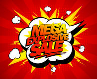 Mega explosive sale design. Stock Photo