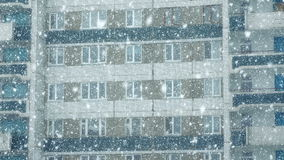 Mega extra big global snowfall loop on building stock video