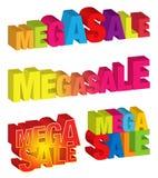 mega försäljning vektor illustrationer