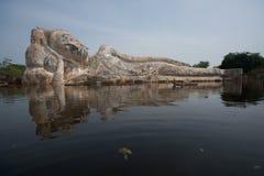 Mega flod i Ayuttaya, mitt av Thailand. Royaltyfri Fotografi