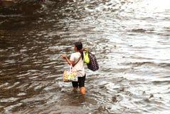 Mega flod i Bangkok. Royaltyfri Bild