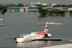 Mega flood in Bangkok. Stock Images