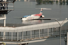 Mega flood in Bangkok. Stock Photo
