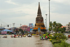 Mega flood in Thailand 2011. Stock Photography