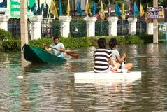 Mega flood in Thailand 2011. Royalty Free Stock Photography