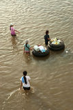 Mega flood in Thailand 2011. Stock Images