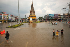 Mega floods in Thailand. Stock Photos