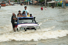 Mega floods in Thailand. Stock Images