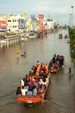 Mega floods in Thailand. Royalty Free Stock Photo