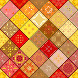 Mega Gorgeous seamless patchwork pattern from colorful Moroccan tiles, ornaments.  Stock Photo