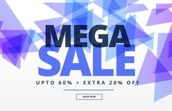 Mega het ontwerpmalplaatje van de verkoop abstract banner Royalty-vrije Stock Foto