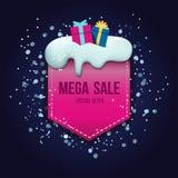 Mega het ontwerpmalplaatje van het verkoopetiket Stock Foto's