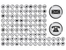 Mega icon set. Set of 100 vector icons. File is in eps10 format Royalty Free Stock Images