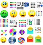 Mega icons Stock Photos